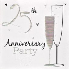 25th Anniversary Silver Anniversary Invitations